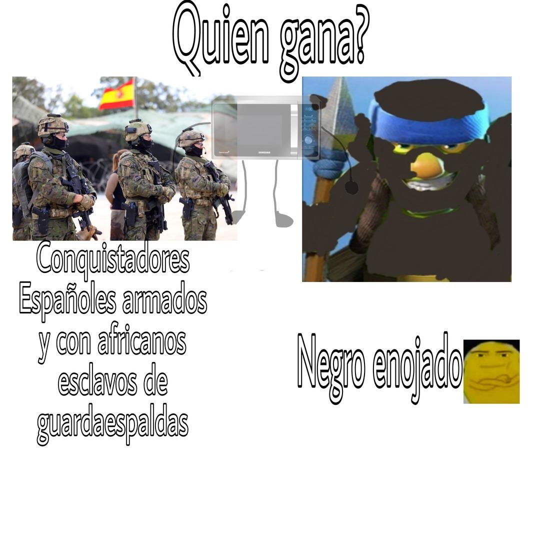 Contexto: Los nativos paraguayos mataban a los españoles porque se les antojaba xd - meme
