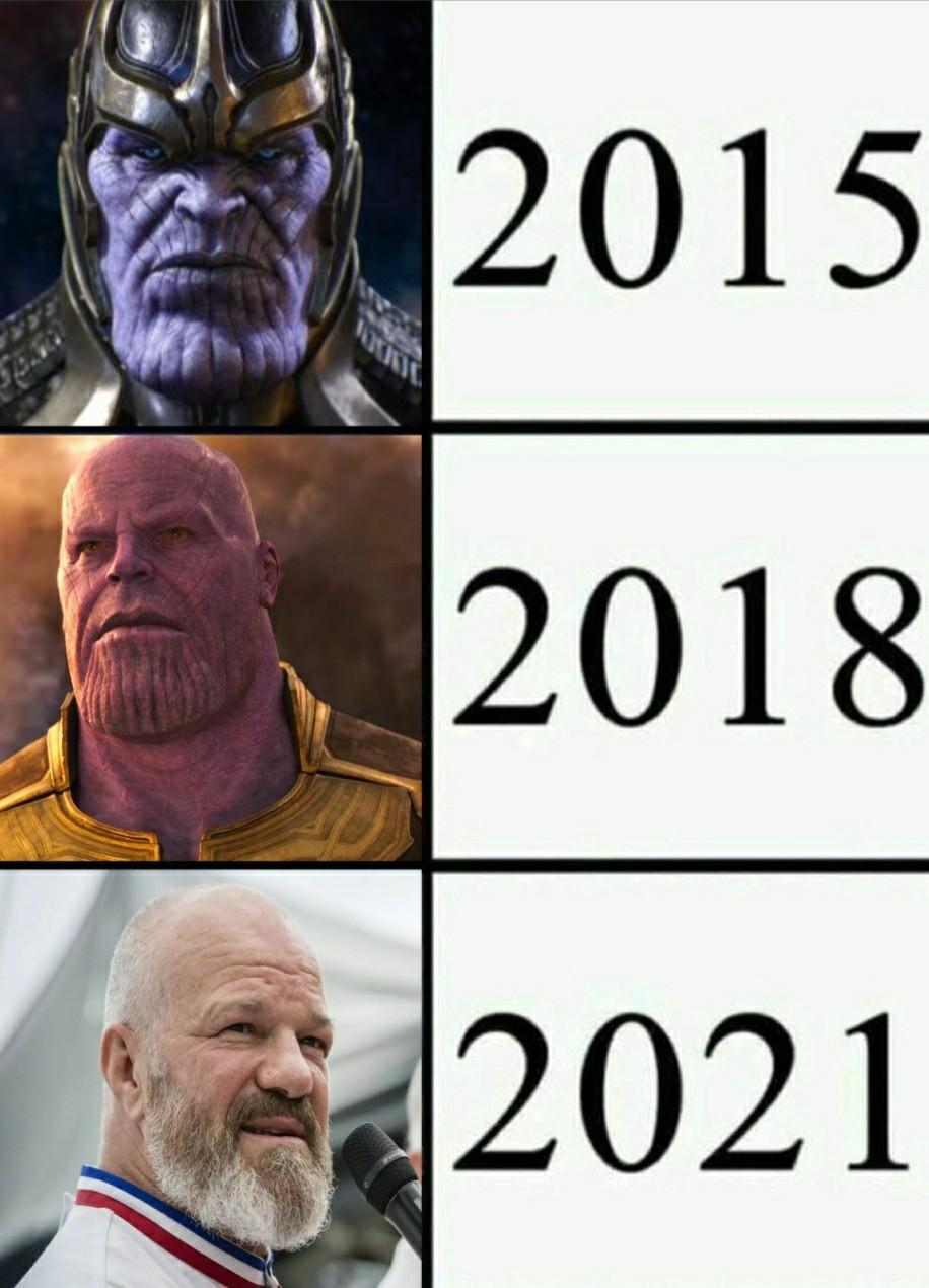 Thanos 2021 - meme
