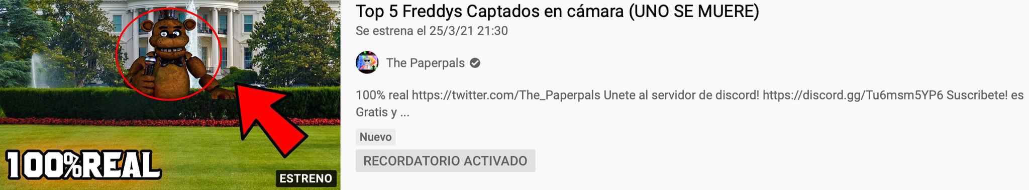 DEL CRADOR DEL PORQUE LOS ANIMATRONICOS TIENEN DIENTES SI NO COMEN? LLEGS TOP 5 FREDDYS CAPTADOS EN CAMARA - meme