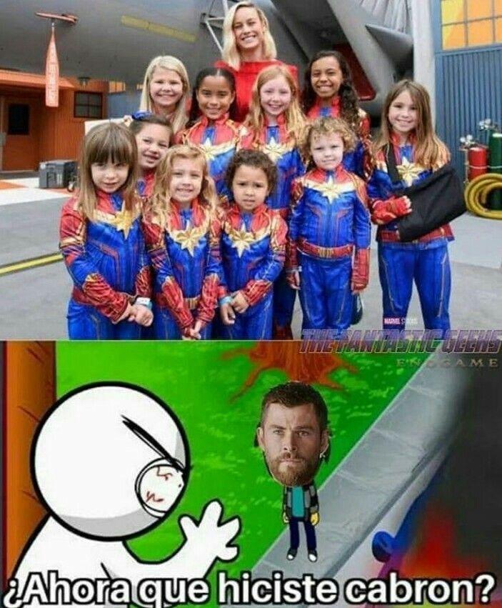 Capitana marvel - meme