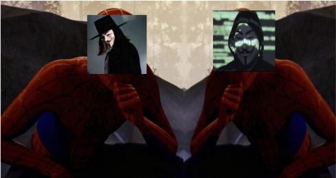 el vendetta y el anonimus - meme