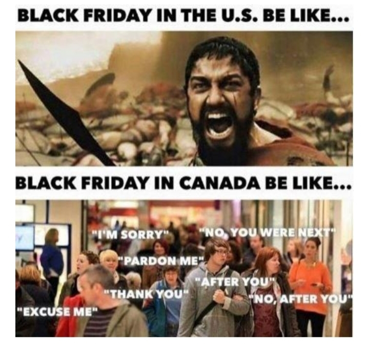 Black Friday in a nutshell - meme