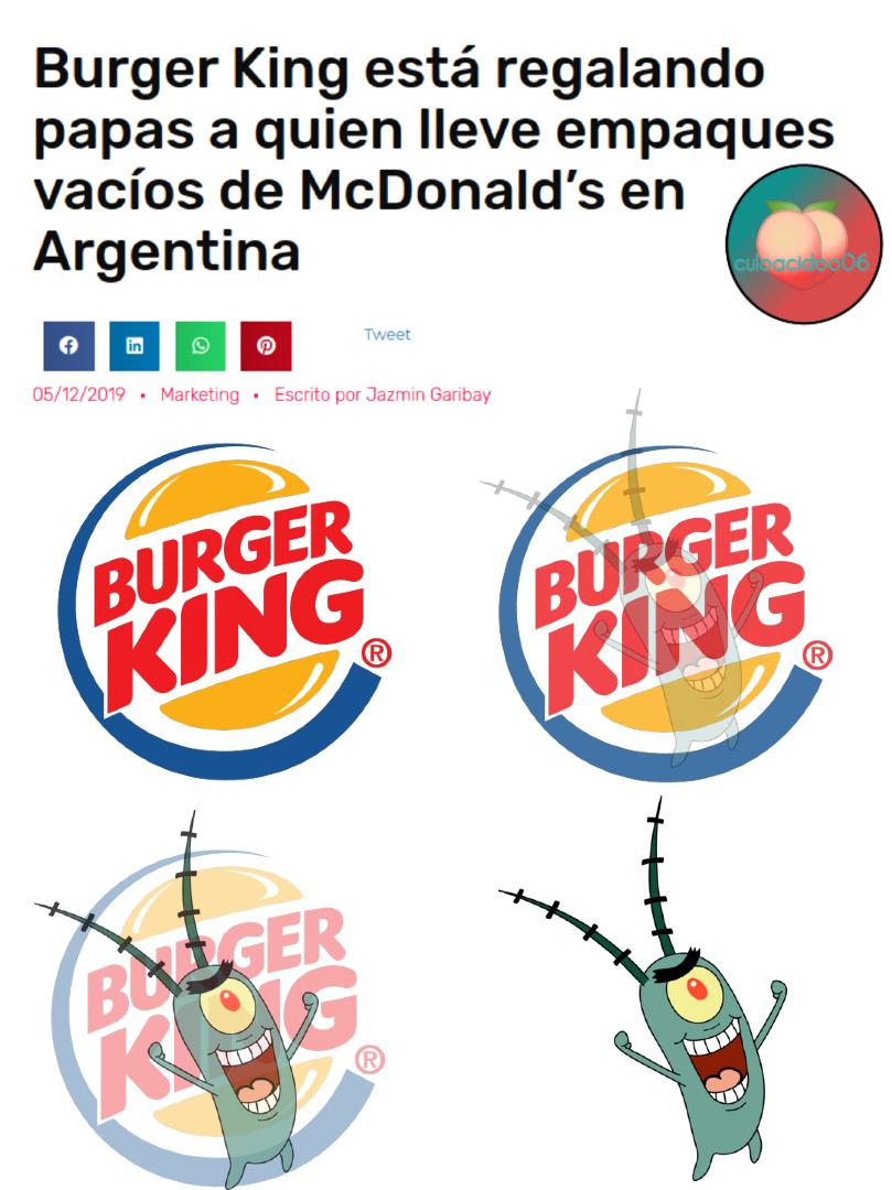 Plankton: actor porno, terrorista y fundador de Burger King (PD: felis nabidad c;) - meme