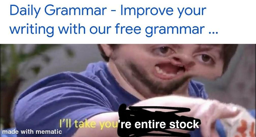 You're - meme