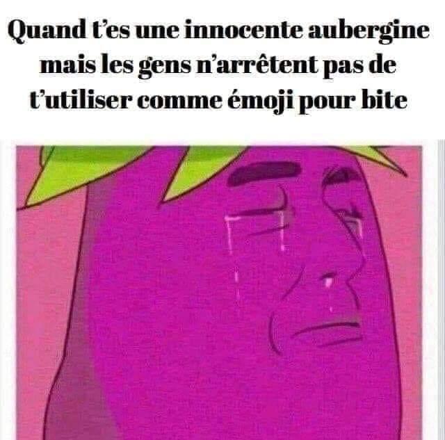 Pauvres aubergines - meme