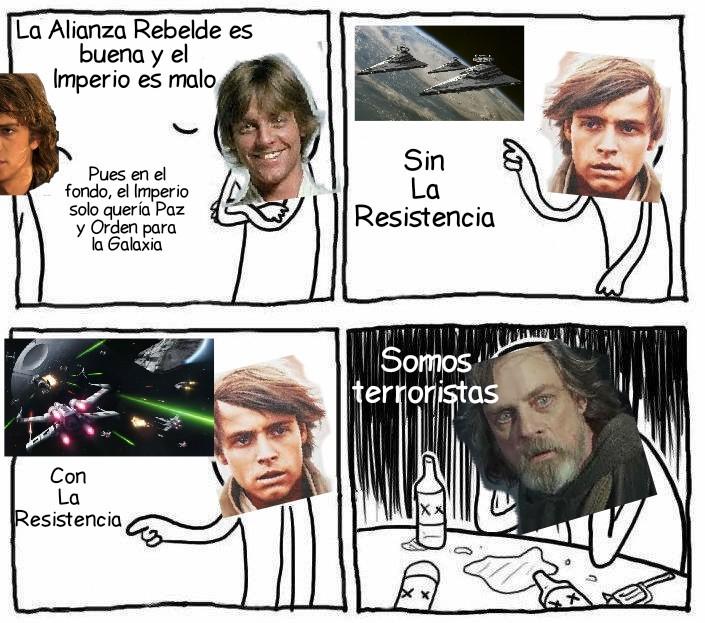 La evolución de Luke con los años... - meme