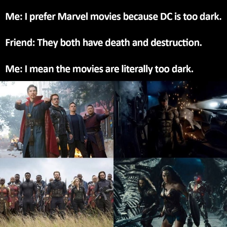 marvel dc memes dark avengers meme funny better war infinity movies memedroid humor freshest imo comics argue malaysia darkness comments