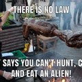 Cannibal aliens bbq