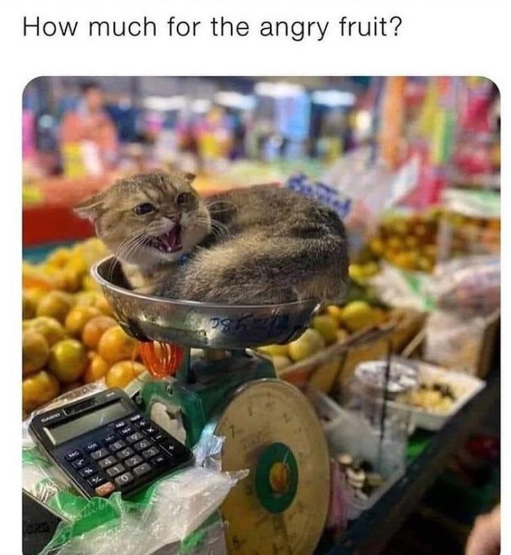 angry fruit - meme