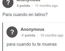 para cuando en latino? - meme