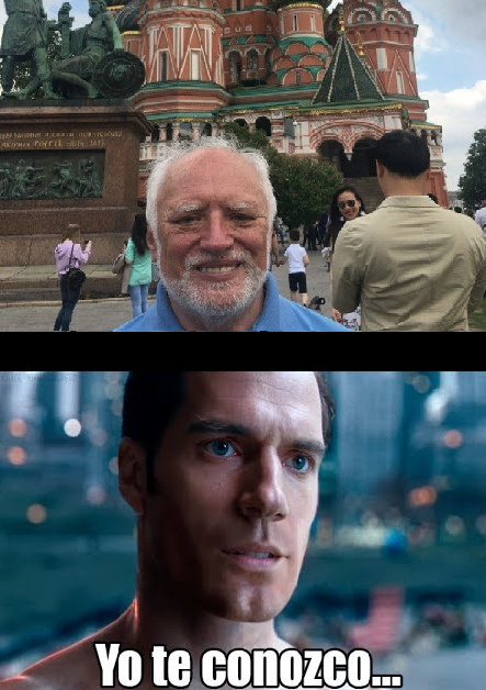Harold visitando Moscow - meme