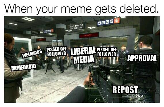 Repost, COD MW2 Russian Terrorist Style - meme