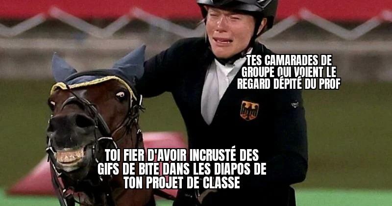 Le cheval le cheval le cheval c'est hallal - meme