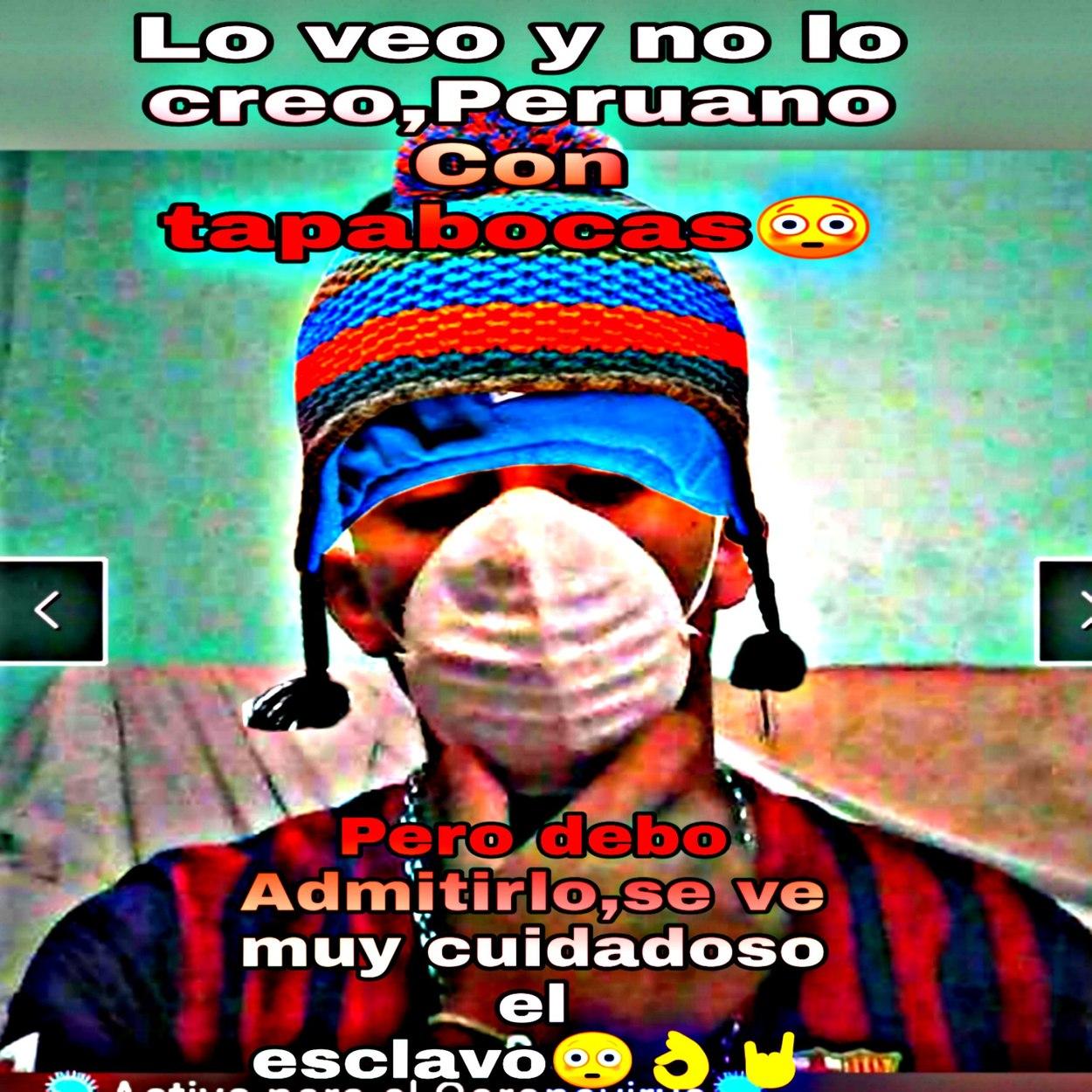 Peruano prevenido - meme