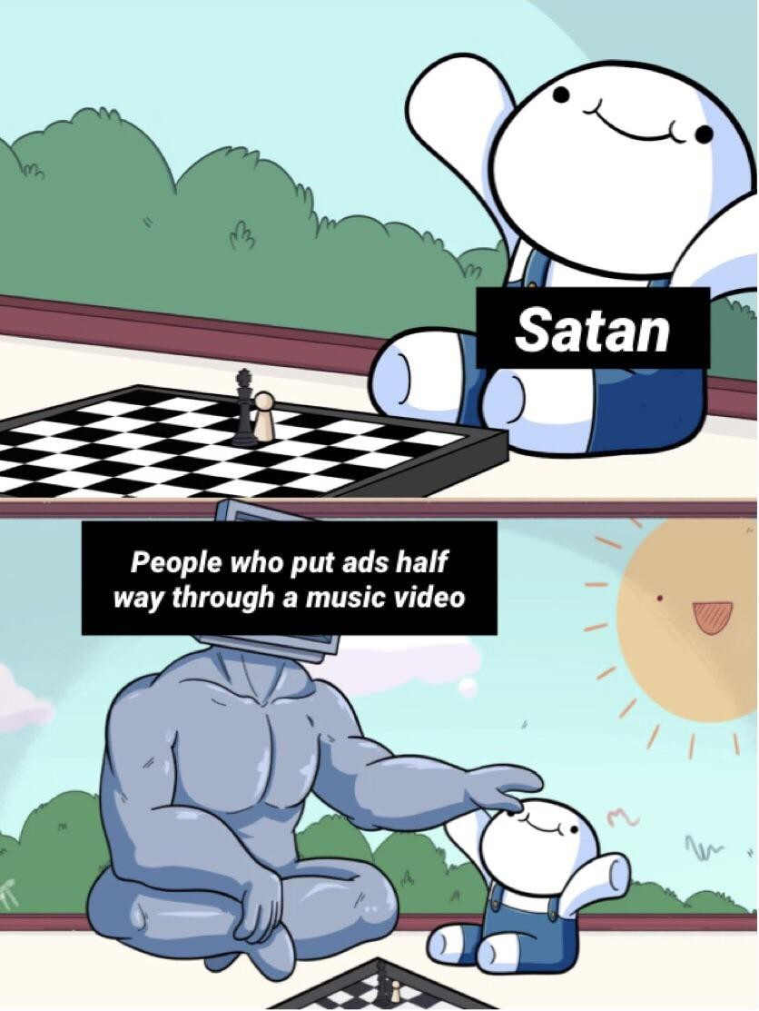 satan is a little boy - meme