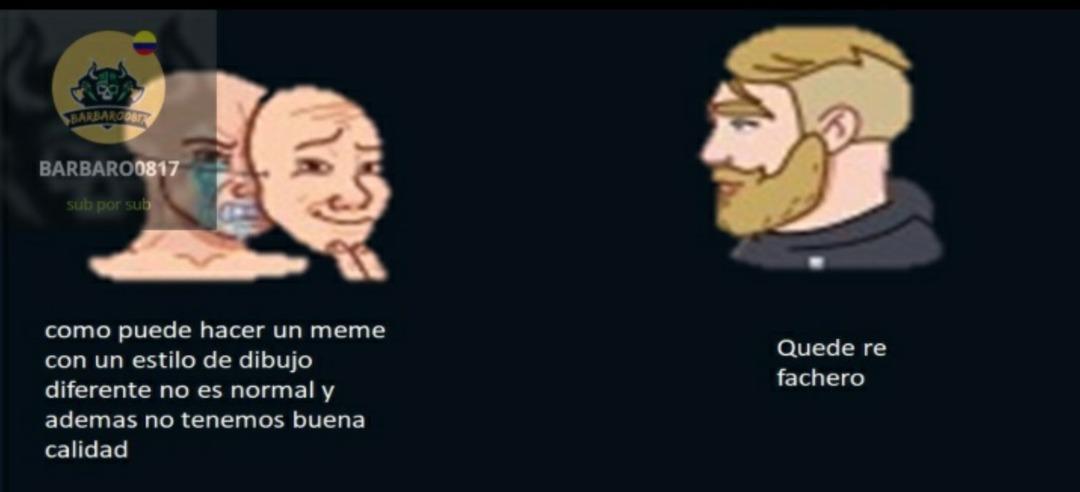Los stickers estaban en telegram XD - meme