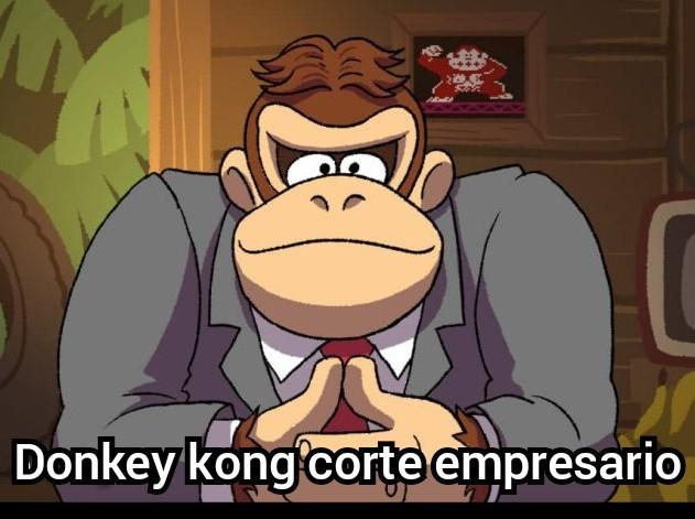 Donkey kong corte empresario - meme