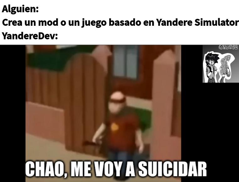 YandereDev se fue a suicidar - meme