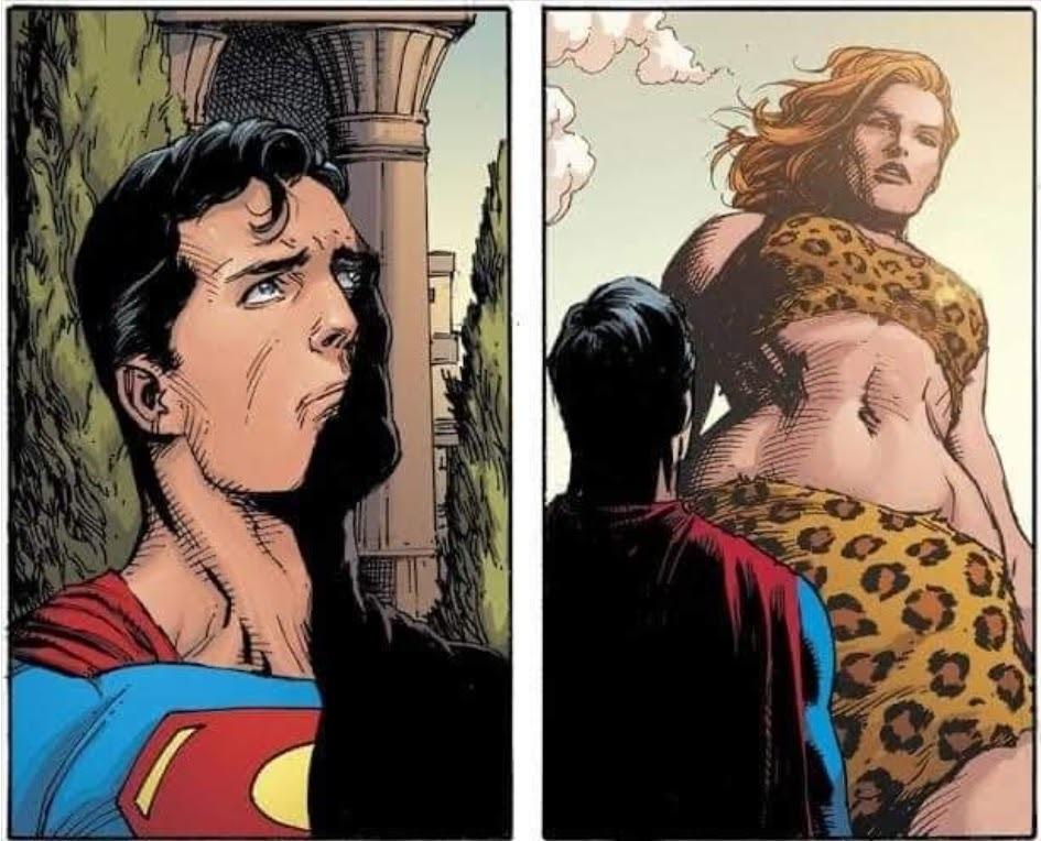 A cara do super man: não tenho pau para isso - meme