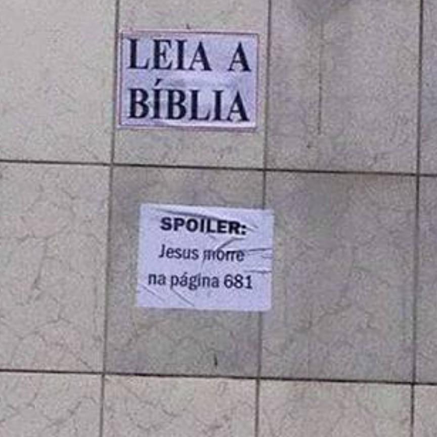 Leiam a biblia - meme