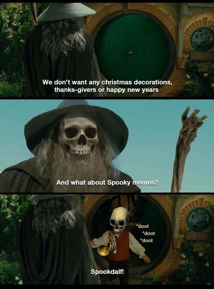 I friggin love spooky season - meme