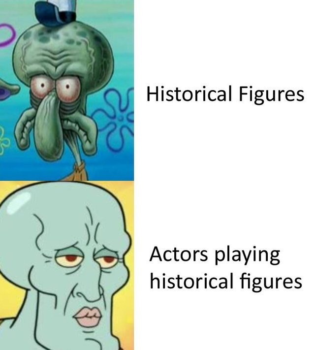 Historical figures vs actors playing historial figures - meme