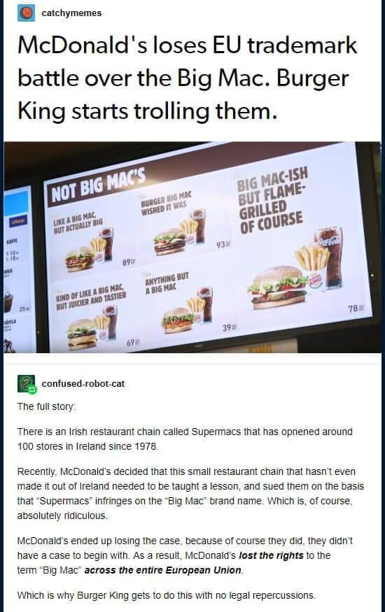 Anything But Big Mac - meme