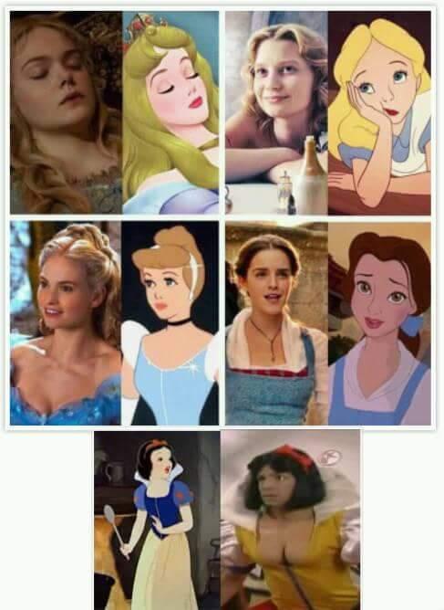 Princesas hermosas - meme