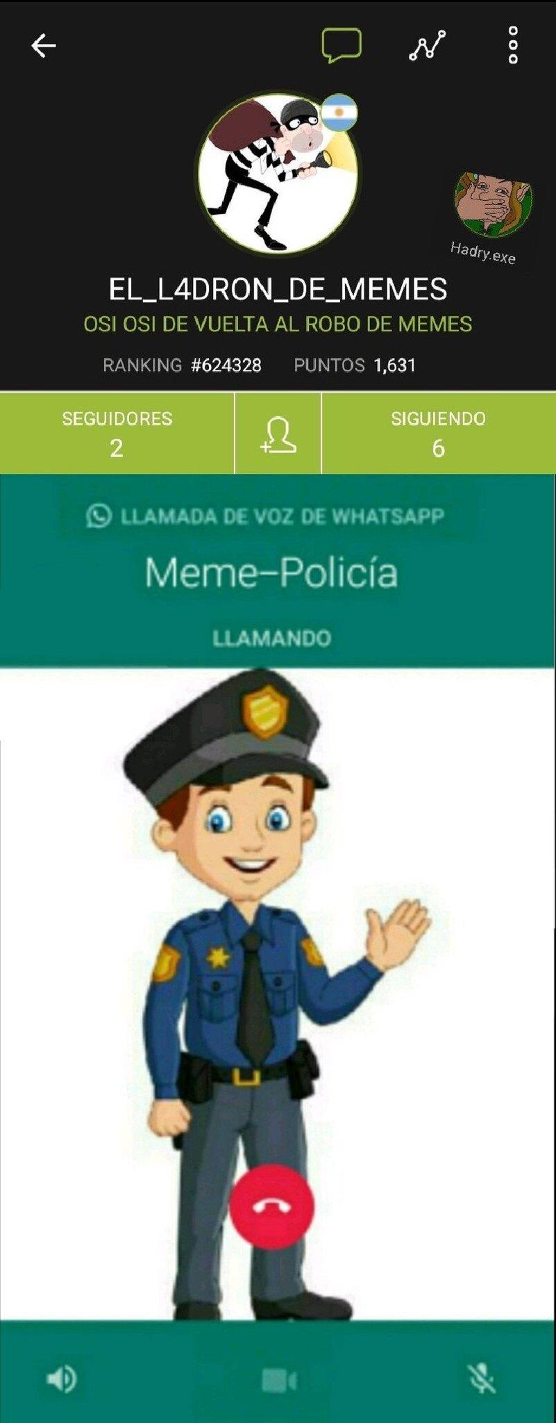 Voy a llamar a la meme policía