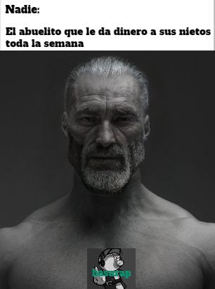 Nadie:  El abuelito mas gentil del mundo - meme
