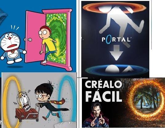 PORTALES AZULES&NARANJAS-POTTER ADEMÁS HACE MAGIA - meme