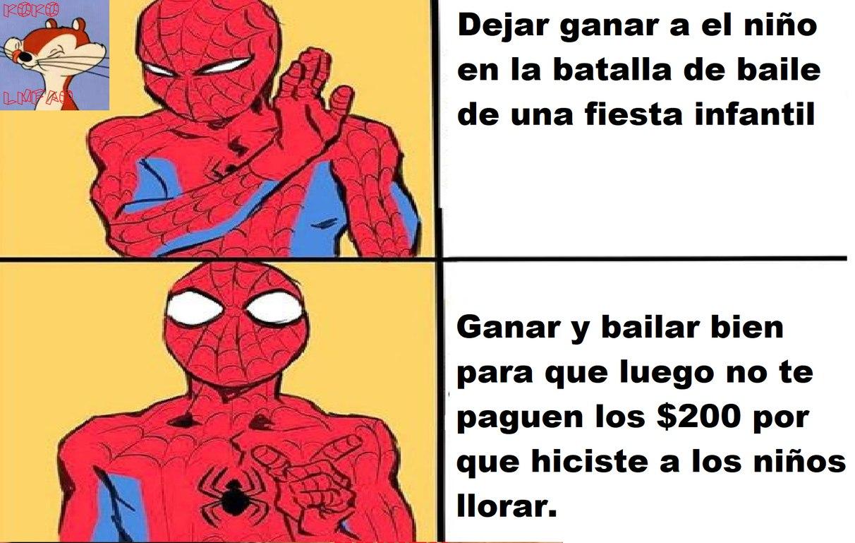 Spiderman siempre ganaba :happy: - meme