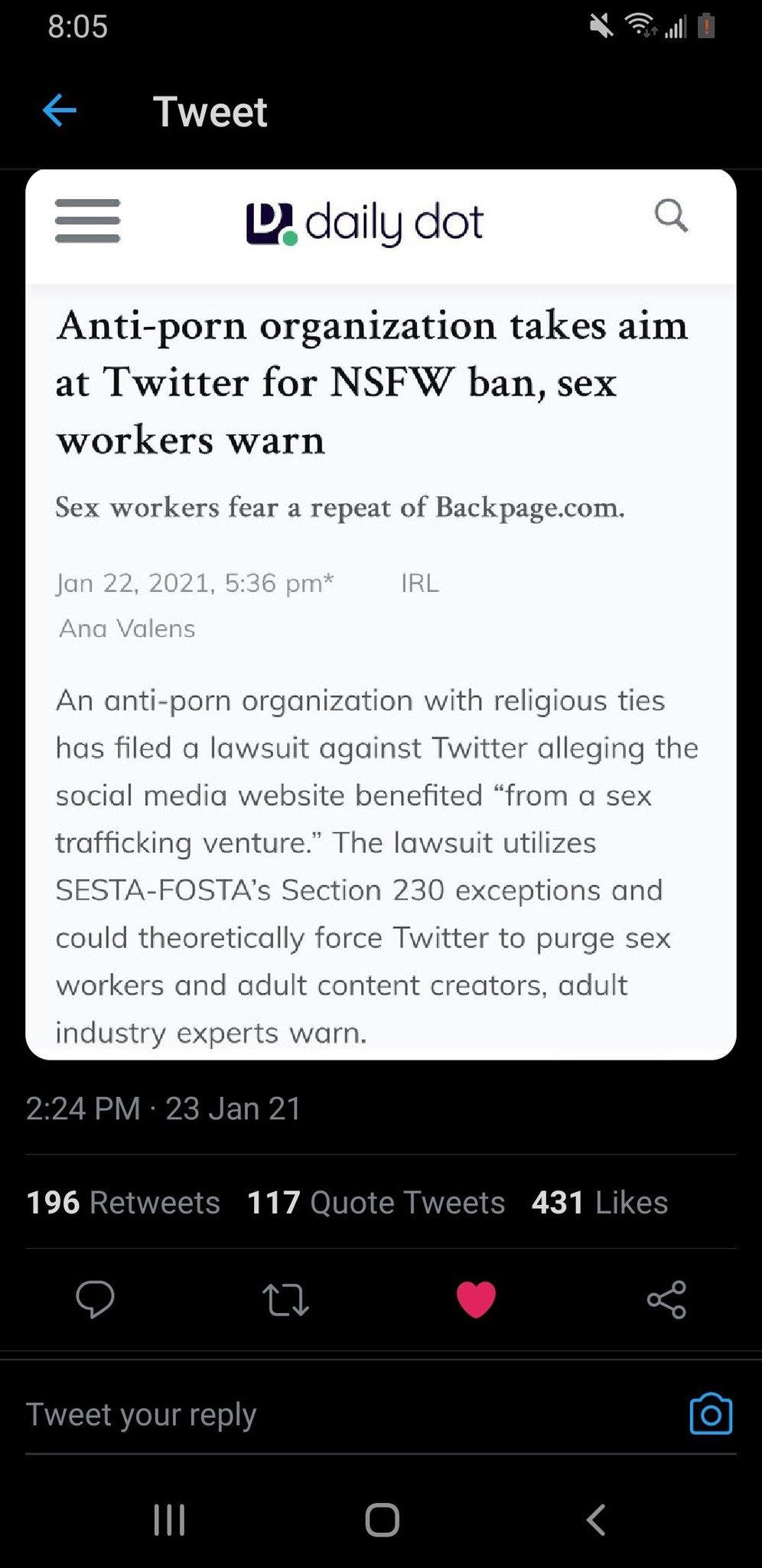 Twitter will ban NSFW content - meme
