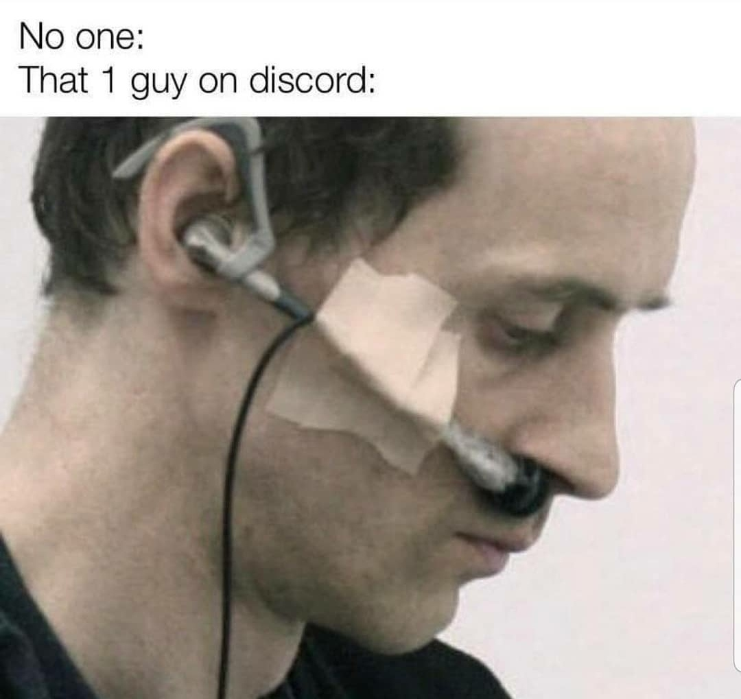 His nose has a built-in mic - meme