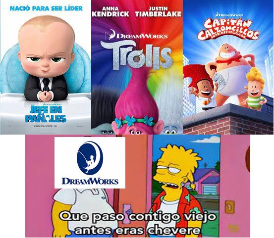 Extraño las peliculas que hacia DreamWorks antes - meme