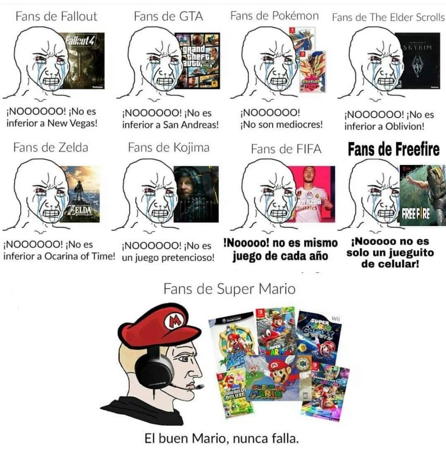 El buen Mario nunca falla - meme