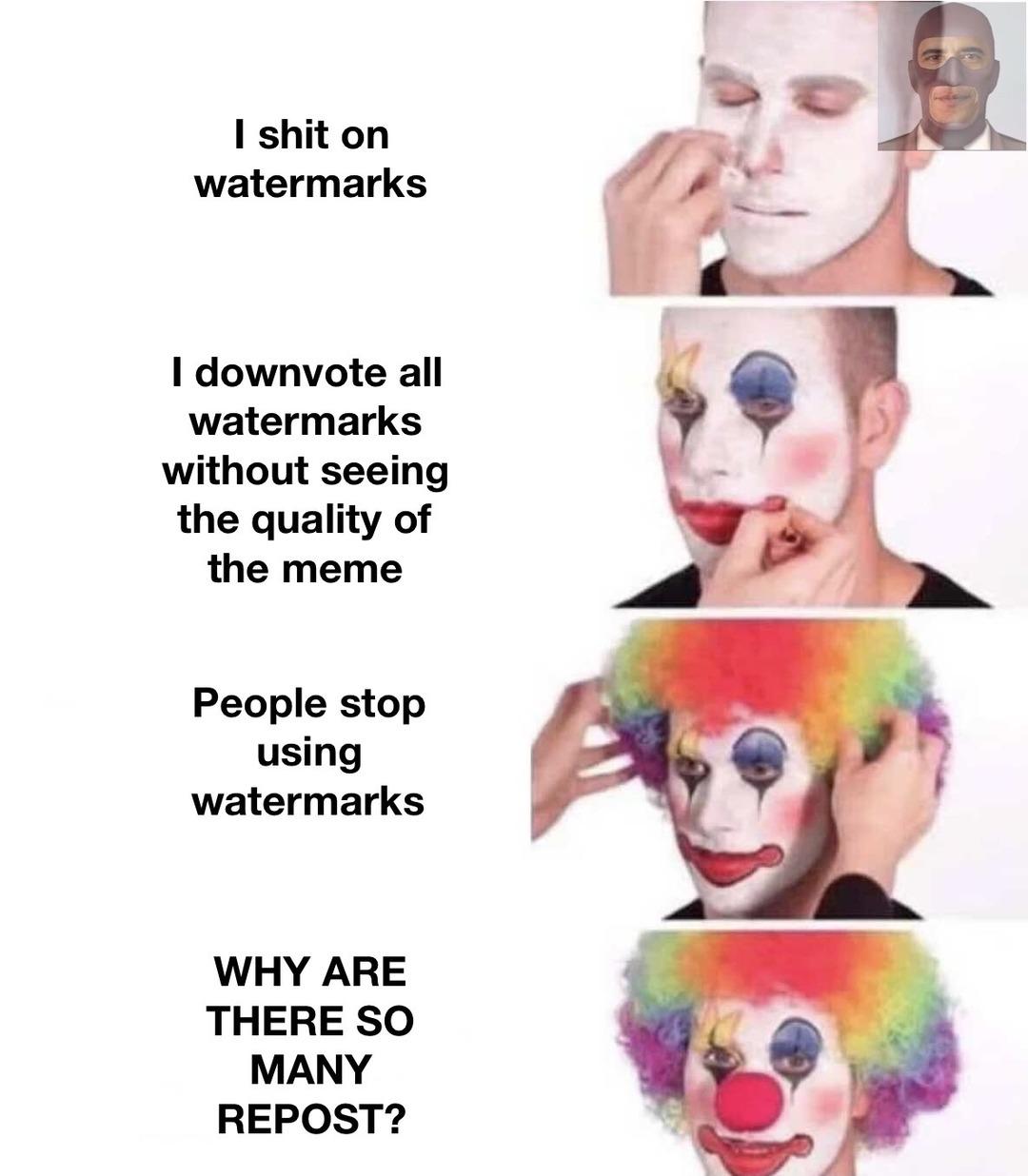 WATERMARK GO BRR - meme