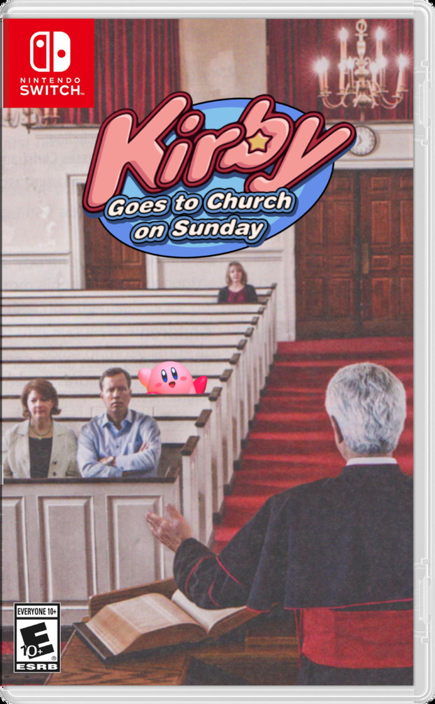 Kirby Goes to Church on Sunday - meme