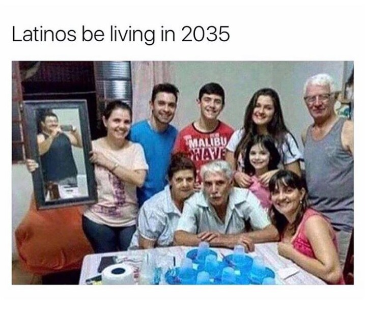 Latinos are advanced - meme
