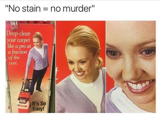 and if it stains use oxiclean - meme