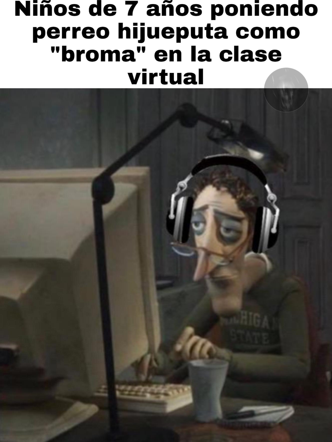 Cuenten que bromas sin gracia han hecho en sus clases virtuales - meme