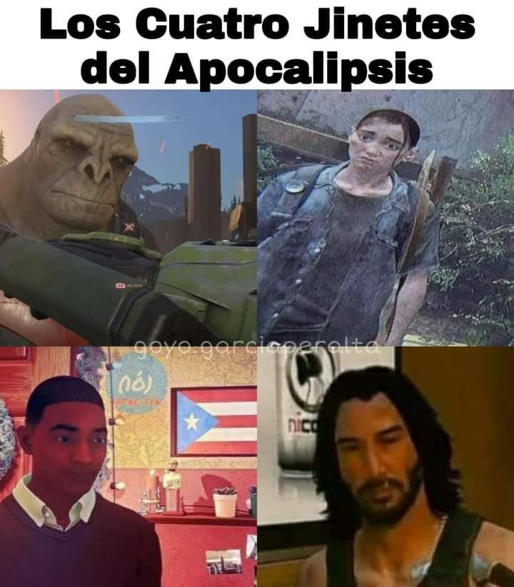 Ginetes del apocalipsis - meme
