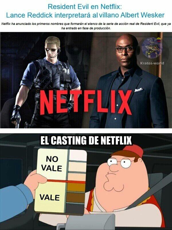 Netflix lo arruina nuevamente no lo creen? Qué opinan? Les gusta el Albert Wesker de ahora?? - meme