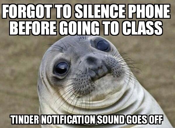 Tinder is a dating app - meme