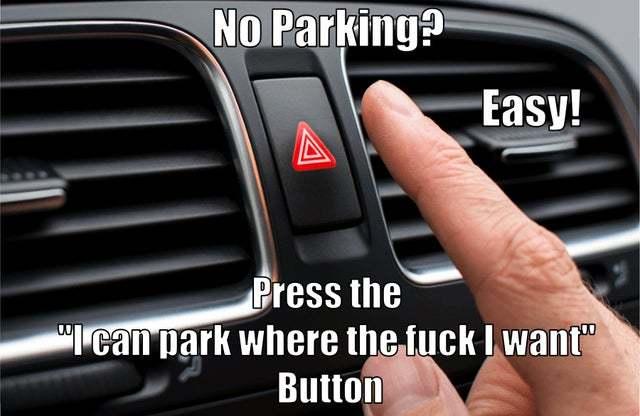 Parking button - meme