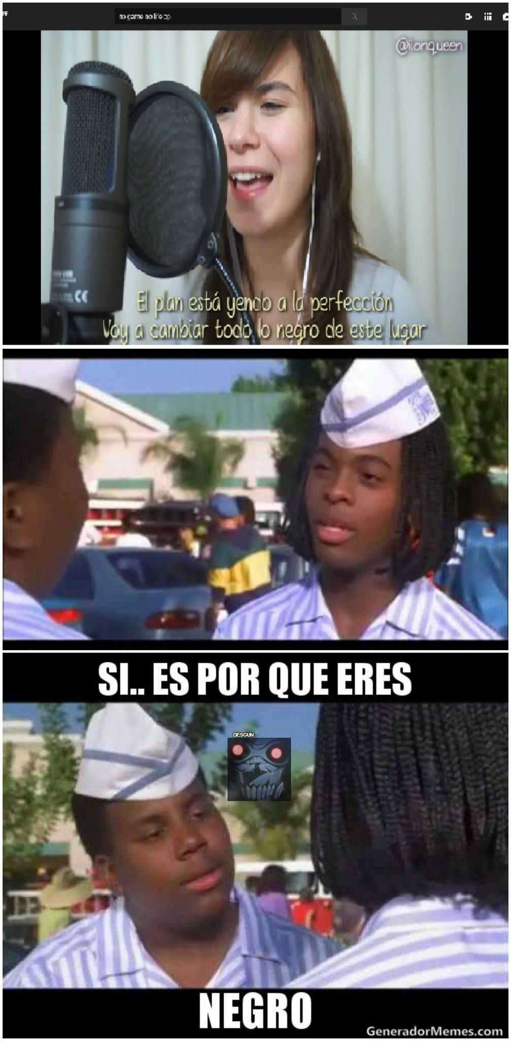Si negro... - meme