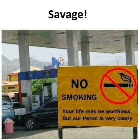 No smoking - meme