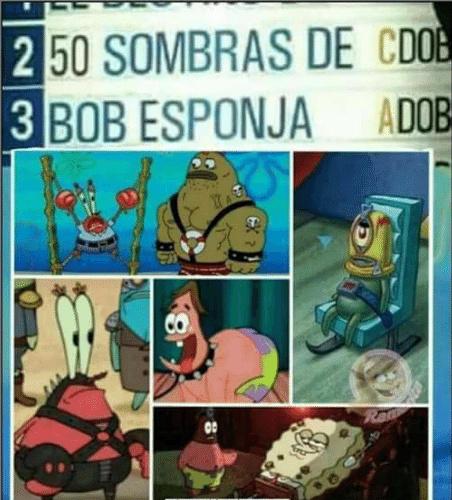 50 Sombras de Bob Esponja - meme