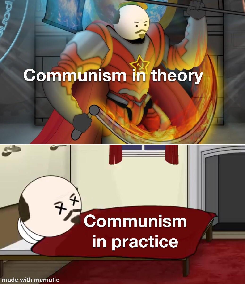Lenin ain't feeling too good - meme