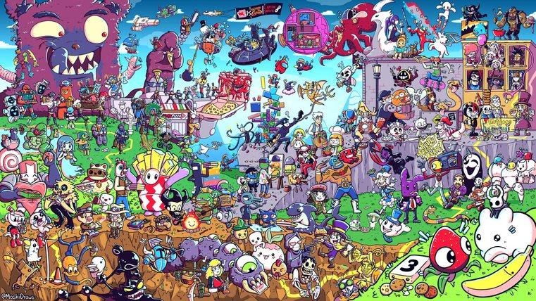 En esta imagen hay 175 juegos, cuántos encontraras? En los tags están algunas de los que yo encontré ya que no me dejan colocar muchas tags - meme